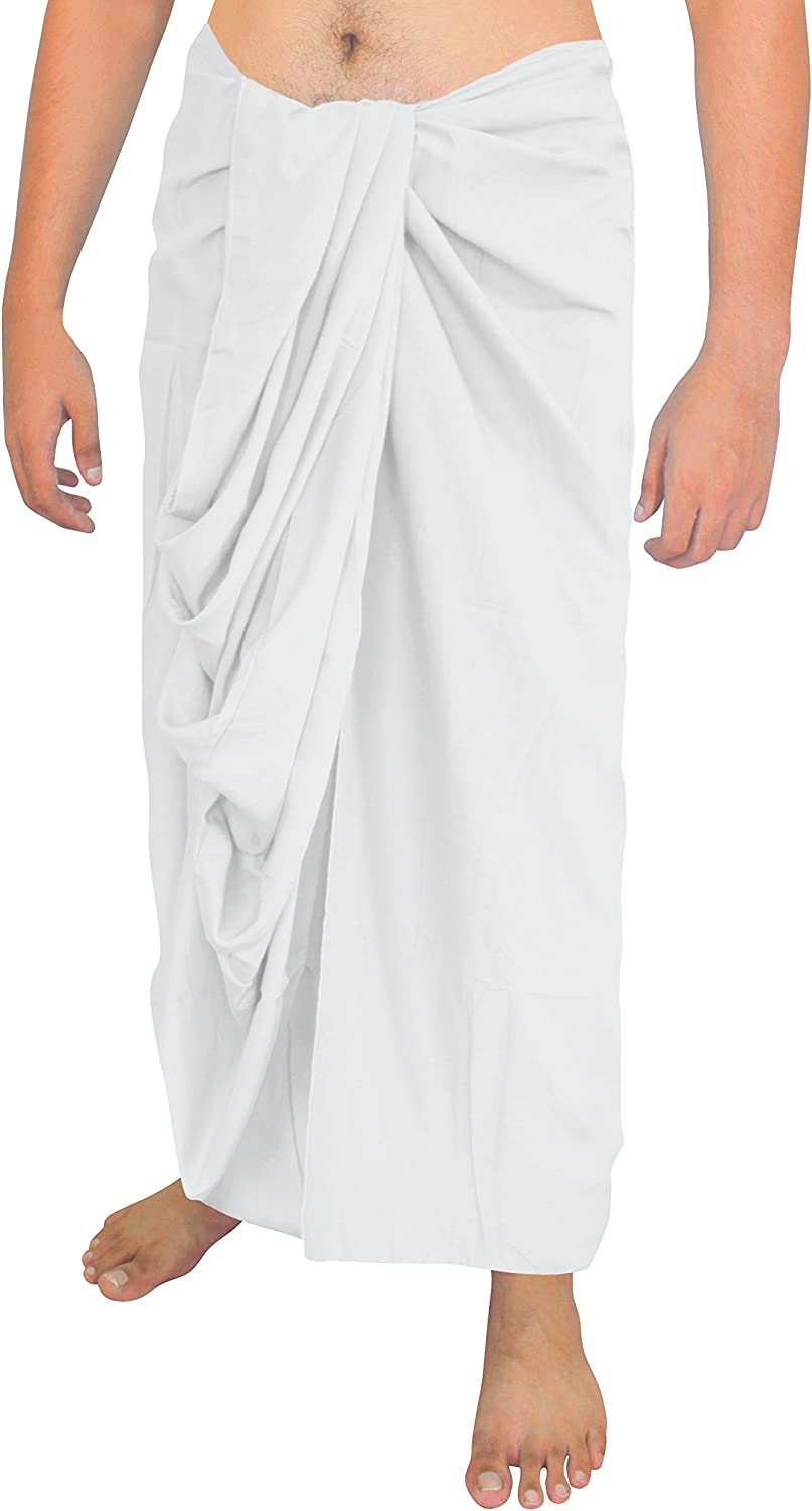 LA LEELA Mens Plus Size Beach Sarong Cover Up Swimwear Wrap Pareo Solid Plain