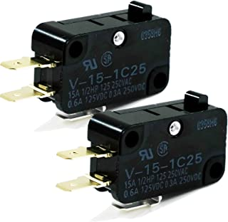 Omron Micro Limit Switch V-15-1C25 15A 125/250VAC #E66D (Pack of 2)