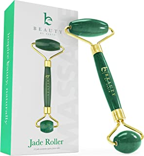 Jade Roller for Face - Face & Neck Massager for Skin Care, Facial Roller to Press Serums, Cream and Oil Into Skin, Lymphatic Drainage Massager Skin Care Tool, Eye Massager and Neck Roller (1 Pack)
