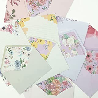 SCStyle Stationary Paper and Envelopes Set Contain 48Sheets Writing Paper 5.9X7.7Inch+24 Pcs A6 Cute Envelopes 4x6Inch wit...