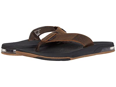 Reef Leather Fanning Low (Dark Brown) Men