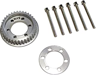 DIYE 36 Teeth 10mm Width Drive Flywheel Pulley Kit Parts for 83mm/90mm/97mm/100mm Wheels 5mm Teeth DIY Electric Skateboard