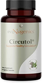 EcoNugenics Circutol Blood Pressure Supplement for Heart and Cardiovascular Health Support with Nattokinase, Hawthorn Extr...
