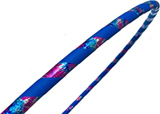 SpinMajik Kid's Hula Hoop Handmade for Fitness, Dance and Fun! Choose Your Tape Color and Child's Size (Electric Blue Tie Dye, Medium (32