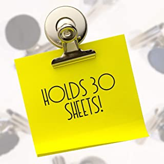 Strong Fridge magnets by Kitch Office. 10 pack super strong Refrigerator Magnet clip style - holds up to 30 sheets.