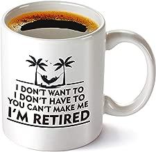 Funny Retirement Gifts Gag for Women Men Dad Mom Husband Wife Boyfriend Humorous Nurse Teacher Retired Gag Gift Coffee Mug for Coworkers Office, Family.