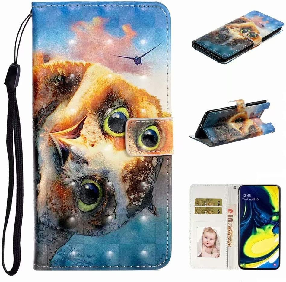 Abtory Great interest Galaxy A80 Wallet Case Leather with Kick Same day shipping Premium PU