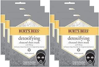 Burt's Bees Detoxifying Charcoal Sheet Mask, 6 Count