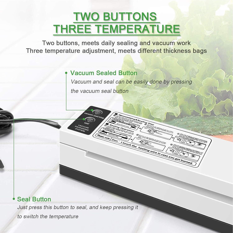 AIZYR Machine Multifonctionnelle De Scellant sous Vide, Machine Automatique D'économie De Nourriture avec Voyants LED Et Modes D'aliments Secs Et Humides,Au Plug Au Plug