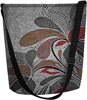 Bertoni Damen Tasche Schultertasche Shopper Umhängetasche Handtasche Filztasche Grau Farbe Grau