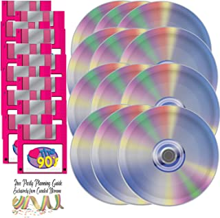 I Love The 90s CD Paper Plates and Floppy Disk Napkins (Set of 16) Bundle by Curated Nirvana