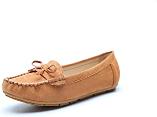Ashley A Comfortable Foldable Slip On Loafers Cushioned Insole Moccasins Flats Driving & Walking Shoes for Women