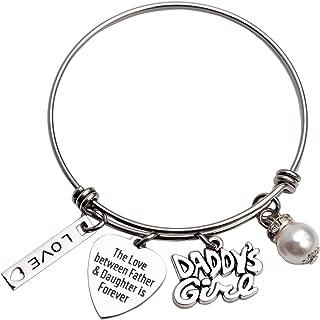 Daddys Girl Daughter Bracelet Stainless Steel Bangle Birthday Gift for Daughter Gift