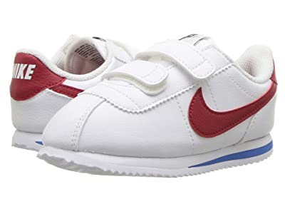 Nike Kids Cortez Basic SL (Infant/Toddler) (White/Varsity Red/Varsity Royal/Black) Boys Shoes