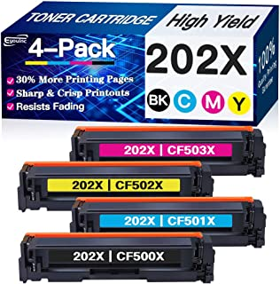Eyouinc Compatible Toner Cartridges Replacement for HP 202X 202A CF500X CF500A Toners use with HP Laserjet Pro MFP M281fdw...