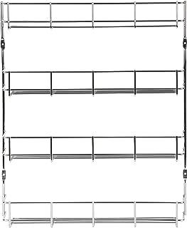 Exzact EXSR004-4 Estante de Especias 4 Niveles/Herb and Spice Rack 4 Tiers 49.5CMx 41CMx 6.2CM- Organizador de estantes de Cocina para jarras. Se Puede Instalar en la Pared o en la Puerta de Armario