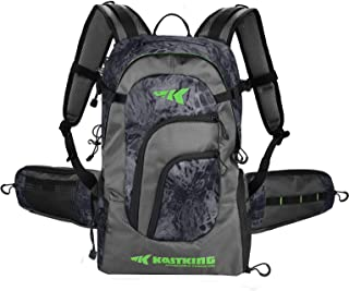 KastKing Fishing Backpack Tackle Storage Bag - Large Saltwater Resistant Fising Bag - Fishing Gear Bag - Waterproof Backpa...