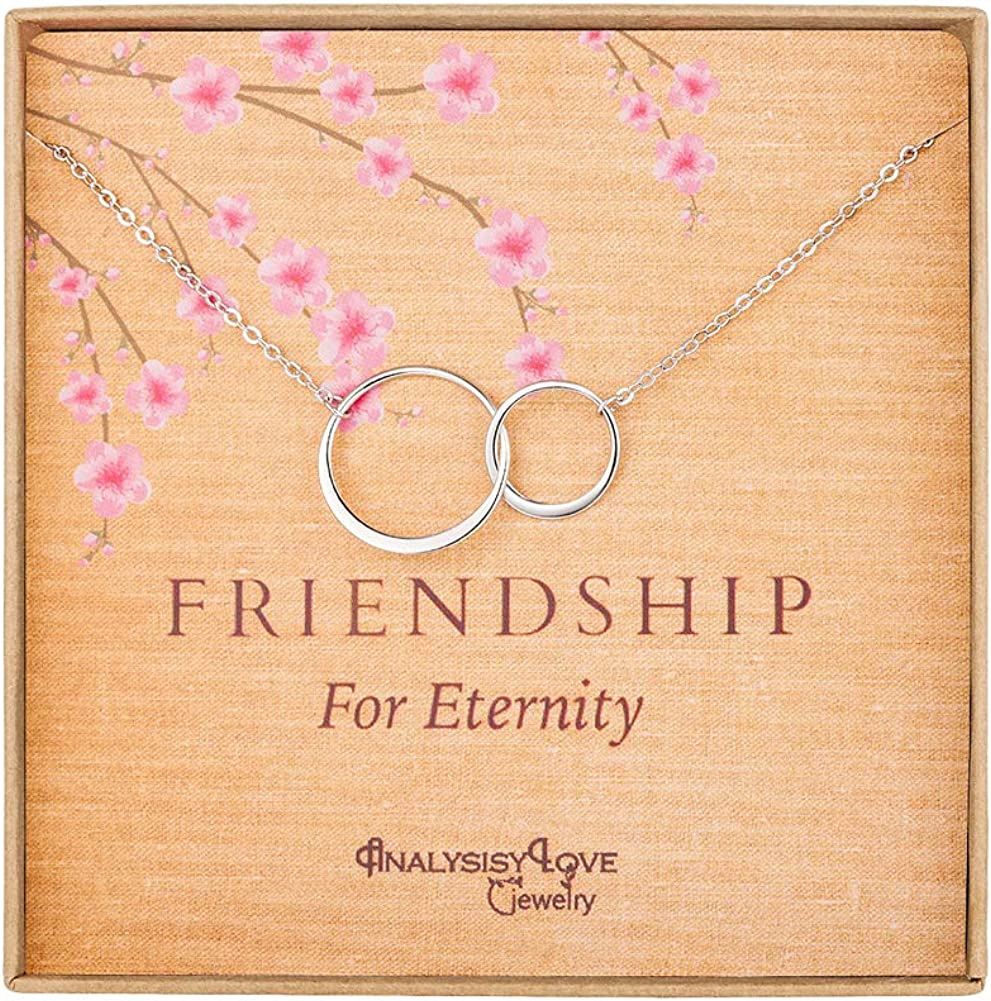 Friendship for Eternity Necklace - Sterling Silver Interlocking