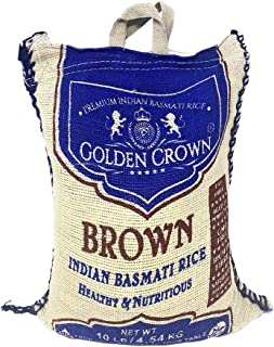 Sponsored Ad - Golden Crown Brown Indian Basmati Rice - 100% Extra Long Grain Healthy Source of Fiber GMO Free Healthy & N...