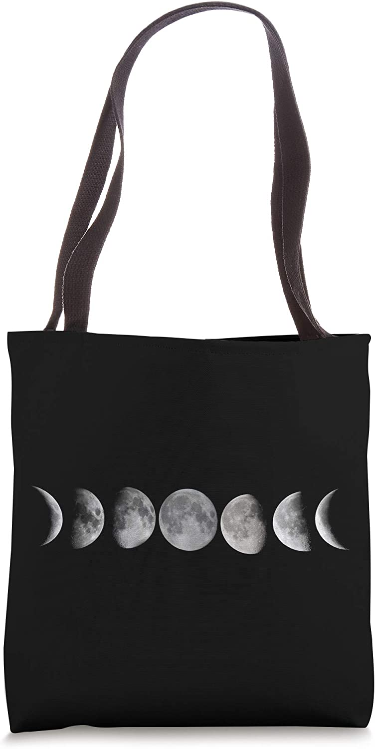 Moon Phases Moon Astrological Camping Space Full Moon Tote Bag