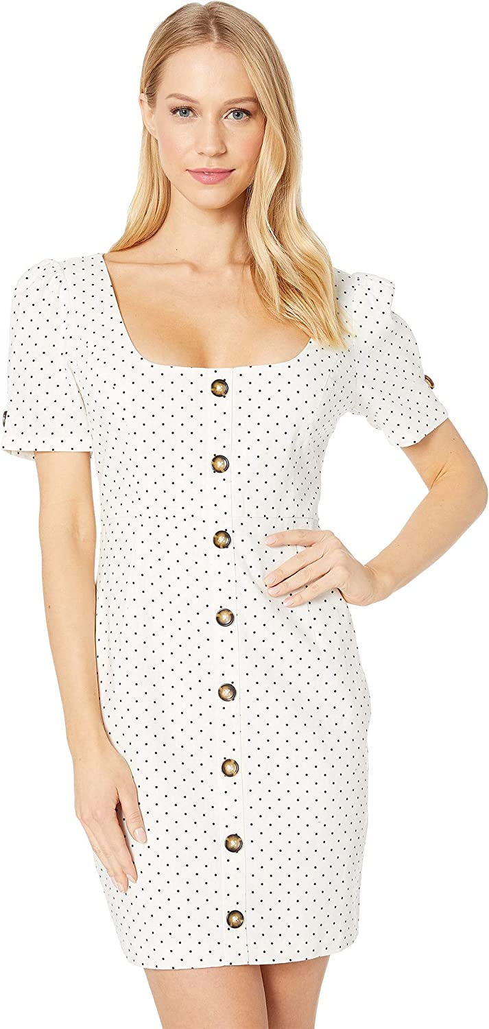 Bardot Womens Spot Button Dress