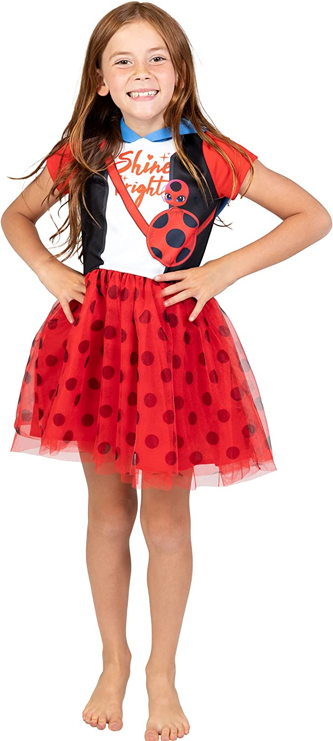 Miraculous High quality Ladybug Girls Hooded Don't miss the campaign Costume Sleeve Dress Mask Short