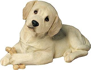 Best Sandicast Life Size Yellow Labrador Retriever Puppy Sculpture, Lying Review