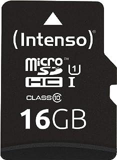 Intenso Micro SDHC 16GB Class 10 Speicherkarte inkl. SD Adapter (UHS I)