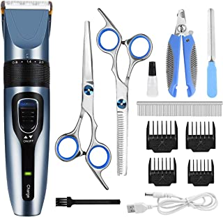 Dog Clippers, Professional Pet Grooming Kit Rechargeable...