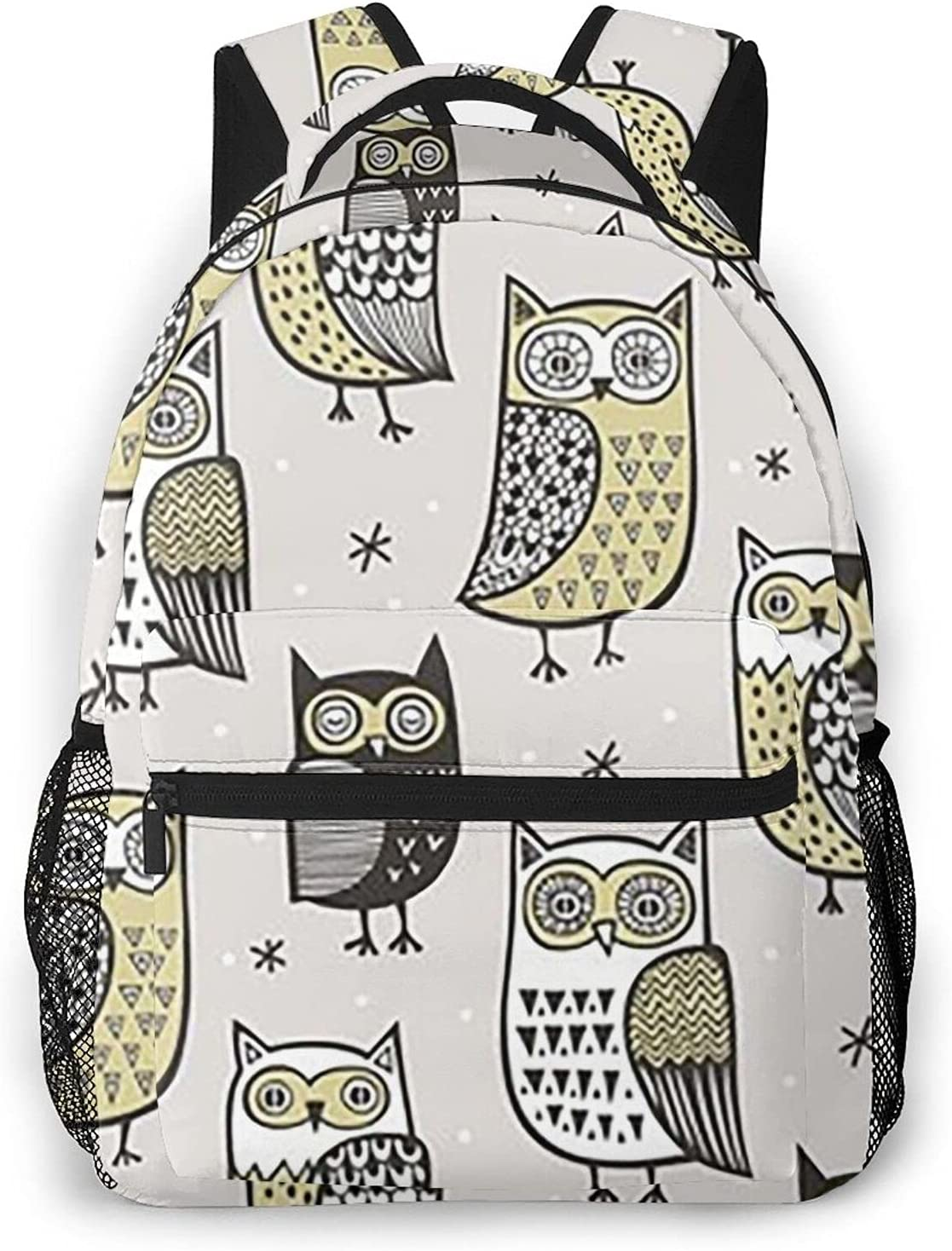 Owls Winter Travel Daypack Inventory cleanup selling New item sale Student Backpack Rucksack Ligh Laptop