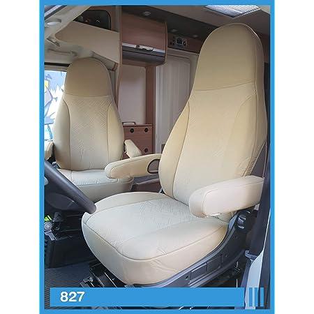 Bremer SitzbezÜge Maß Sitzbezüge Kompatibel Mit Wohnmobil Fahrer Beifahrer Farbnummer Camelbeige 827 Auto