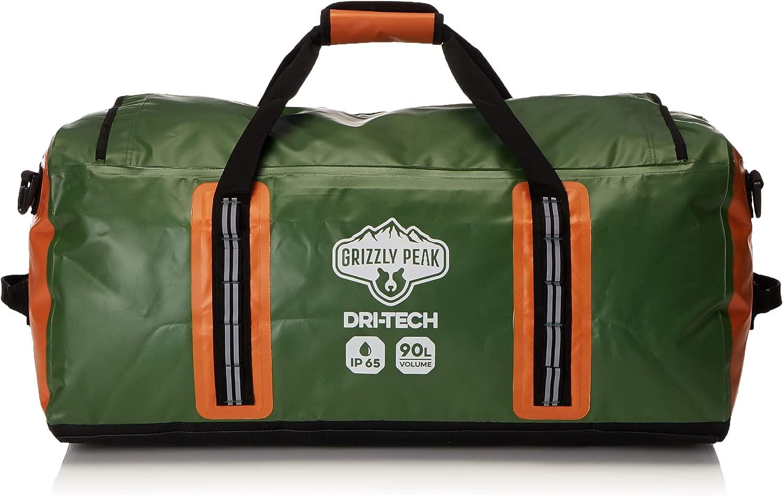Grizzly Peak ドライテック 防水ドライダッフルバッグ IP 65 軽量 ロールトップ ドライバッグ バックパッキング ショルダーストラップ& 予備ポケット4個 – 個人的な持ち物を守ります。