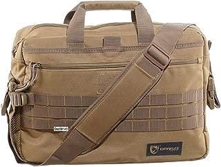 BLACK OPS, DRAGOGEAR Drago Gear Side Pack Tactical Laptop Briefcase Tan Side Pack Tactical Laptop Briefcase Tan One Size