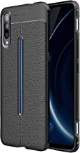 TiHen VIVO Y83 Pro Case, 360 Degree Protection [with Tempered Glass Screen Protector] Premium Leather Case Slim Fit Phone Cover Protective Skin Case for VIVO Y83 Pro- Black