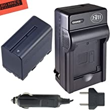 NP-F970 Battery and Charger for Sony PXW-Z150, NEX-EA50M, FDR-AX14K, HDR-AX2000, FX1, FX7, FX1000, HVR-HD1000, V1U, Z1U, Z5U, Z7U, HXR-NX5U, MC2000U, MC2500, HXR-NX100 Camcorder