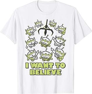 Disney Pixar Toy Story Aliens Claw I Want To Believe Sketch T-Shirt