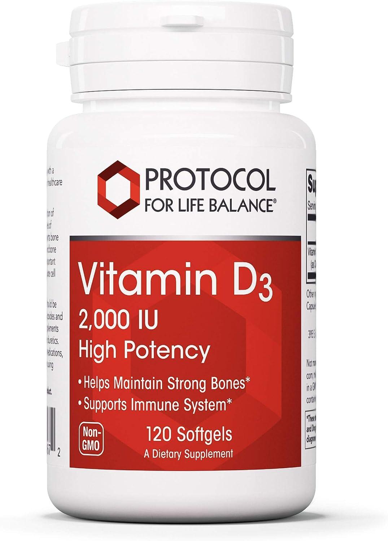 Protocol Vitamin D3 Same day shipping Philadelphia Mall 2 000 IU Immune - Support Healthy and Bones