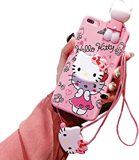 iPhone 8/7 Plus Case,Pink 3D Kitty Cat Case, Cute Silicone Cartoon Kawaii Animal Character Protective Cover for Kids Girls Compatible with Apple iPhone 8/7 Plus 5.5