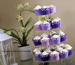 All About Details Purple Ombre Forty Cupcake Wrappers Kit, 32pcs