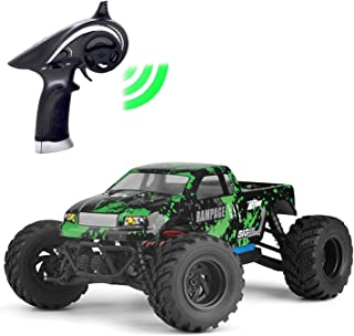 KELIWOW Waterproof Racing RC Car 1/18 Scale Electric Monster Truck 18 MPH 2.4Ghz High Speed RC Off Road Car (Green)