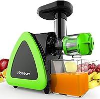 Estrattore di Succo a Freddo, Homever Professionale Estrattore Frutta Verdura 60 giri/min, Potente Motore a Induzione,...