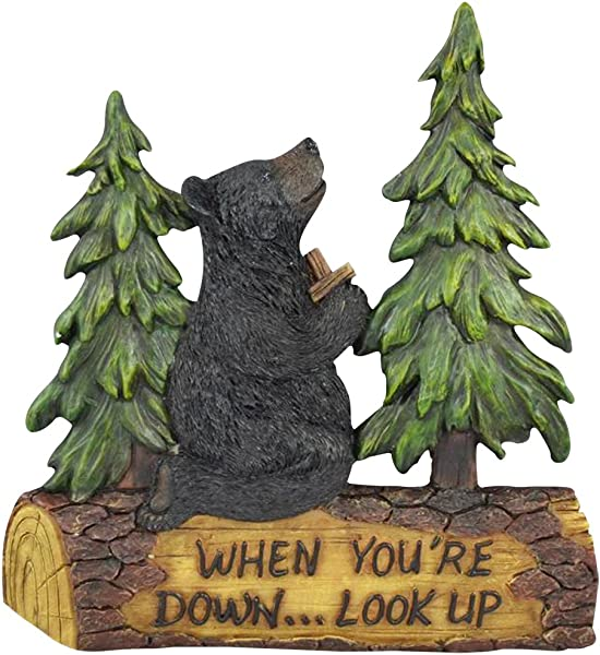 Black Bear Decor For Home Cabin Decor Wall Hanging Home Gifts For Family Wall Plaques With Sayings Christian Religious Gifts Bear Wall Hanging Praying Black Bear When You Re Down Look Up