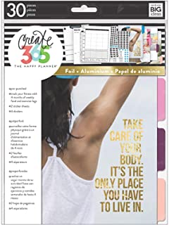 me & my BIG ideas 4 Month Fitness Extension - The Happy Planner Scrapbooking Supplies - Pre-Punched Pages - Food & Exercis...