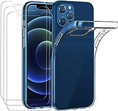 ivoler Coque Compatible avec iPhone 6,1 Pouces 12 Pro et iPhone 12 avec Pack de 3 Film Protection écran en Verre trempé