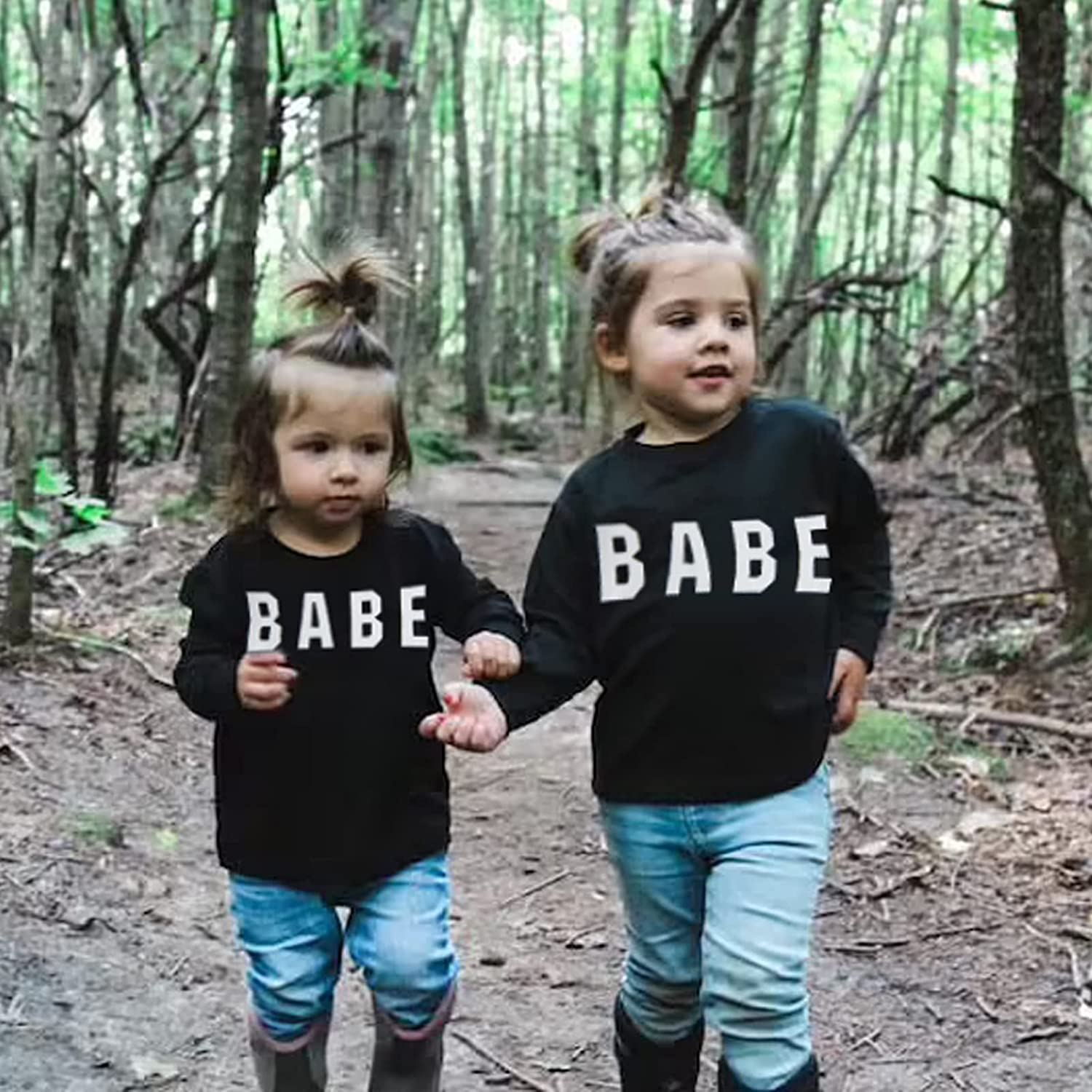 Newborn Baby Boys Girls Clothes Babe Sweatshirt Tops Infant Toddler Letter Print Pullover Casual Autumn Tops 0-3Y
