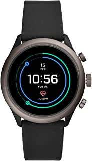 Fossil Men's Sport Metal and Silicone Touchscreen Smartwatch with Heart Rate, GPS, NFC, and...