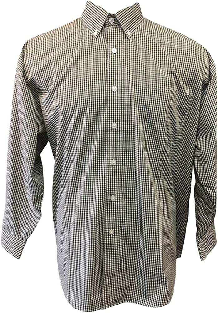 Copper Cove Big and Tall Long Sleeve Gingham Casual Shirt