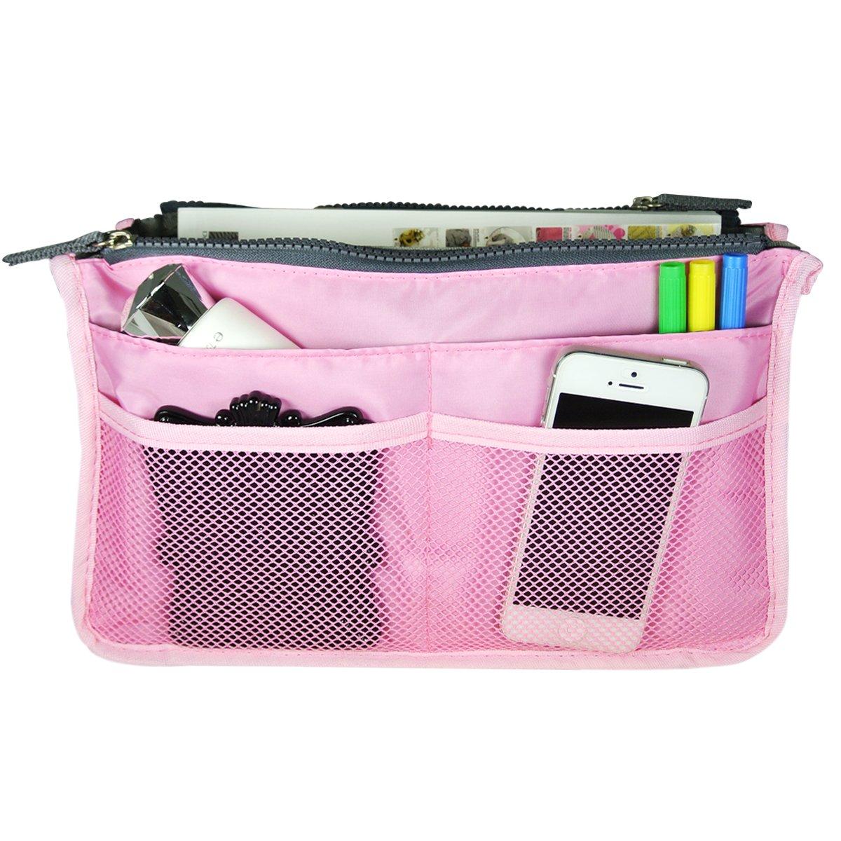 Bag Organizer Purse Cheap SALE Start Insert Pink Max 67% OFF Handbag Travel