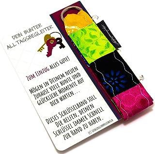 und Musterkombinationen Bunt Lieblingsmanufaktur Band Schl/üsselanh/änger viele Farb immer neue individuelle Einzelst/ücke