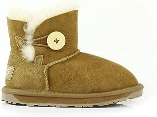 Kids UGG Boots - Child Mini Button, Australian Sheepskin, Non-Slip
